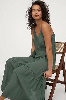 Green Long Summer Dress