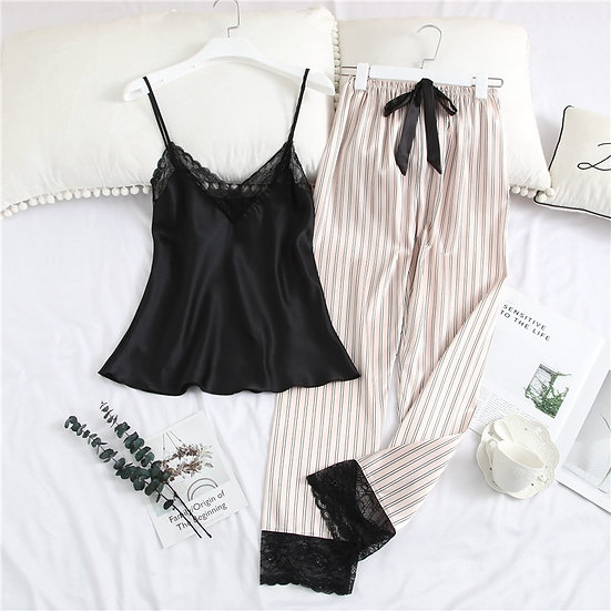 Satin Lace Pyjamas