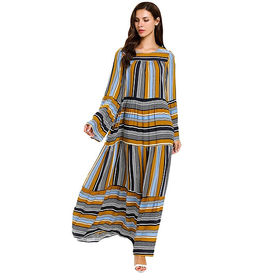 Striped Maxi Dress (Plus size available)