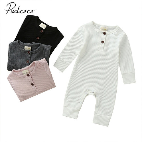 Long Sleeve Long  Ribbed Jumpsuit Sizes 0-18 months