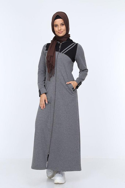 Hooded Zipped Long Dress / Jacket