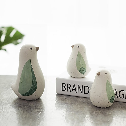 Nordic Creative Ceramic Bird Figurines