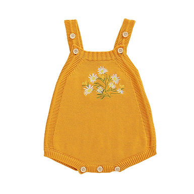 Embroidered Knitted Romper Sizes 0-18 months