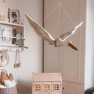 Flying Swan Pillow Plush Toy