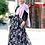 Thumbnail: Flower Print Chiffon Maxi Skirt