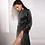 Thumbnail: Black  Lace Back Satin Robe