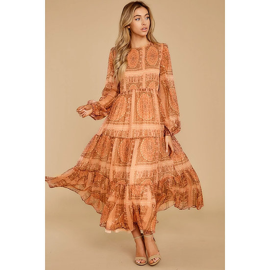 Boho Floral Printed Maxi Dress