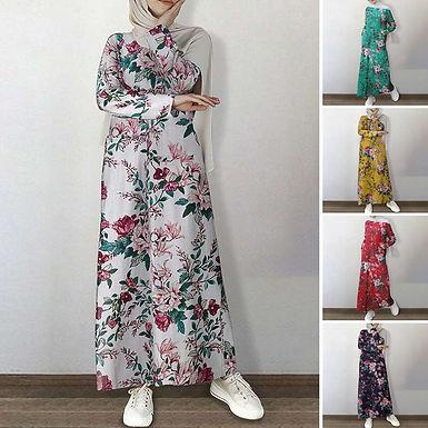 Floral Maxi Dress (Plus Sizes Available)
