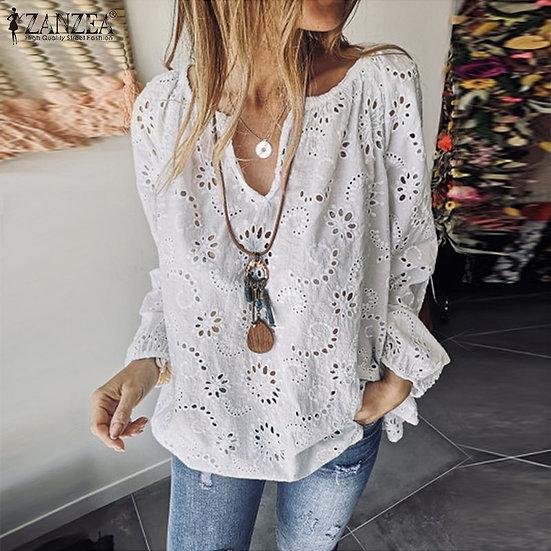 Lace Blouse (Plus Sizes available)