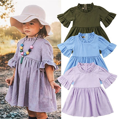 Baby Girl  Flared Sleeve Sundress s 6m-3years