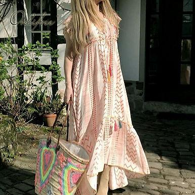 Boho Sleeveless Print Maxi Dress