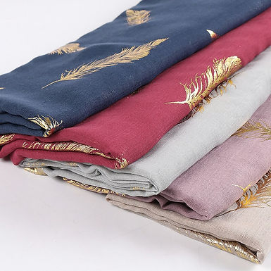Feather Print Hijabs