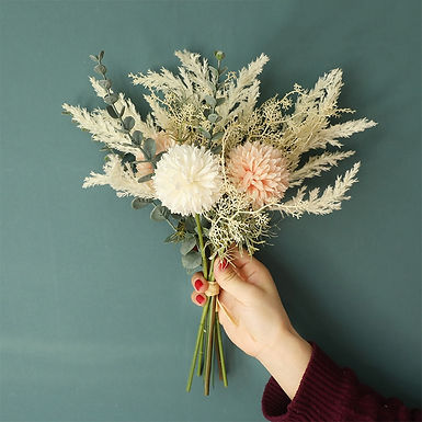 Artificial Flower Dandelion Eucalyptus Hybrid Bouquet