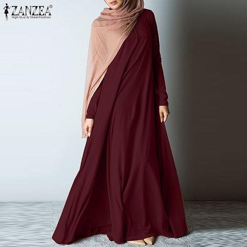 Modest Long Sleeve Ankle Length Dress