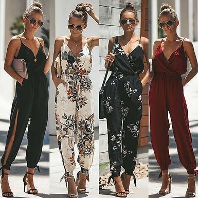 Floral Jumpsuits (plus sizes available)