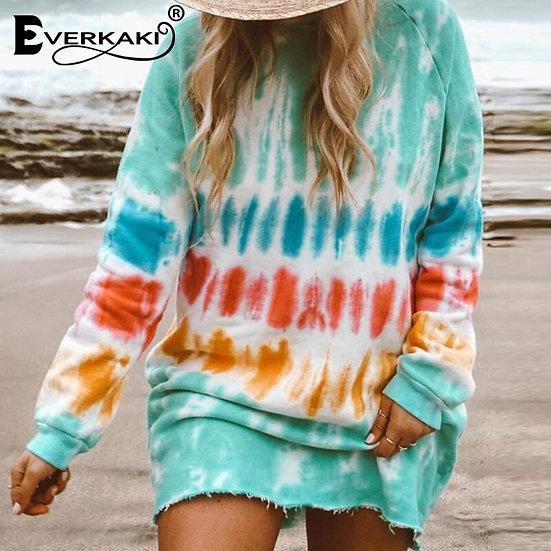 Print Mini Dress / Sweater