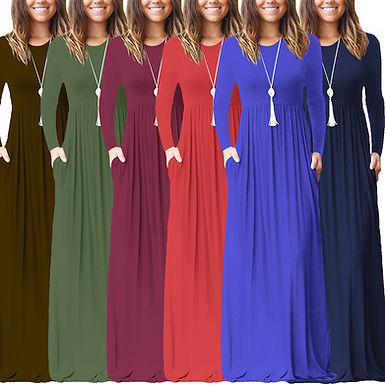 Casual Long sleeve maxi with pockets
