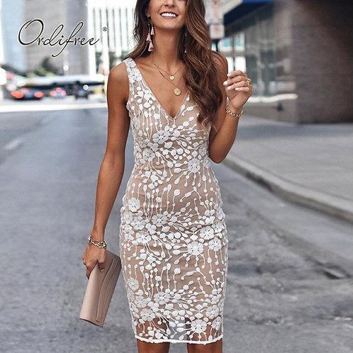 Lace Bodycon Sequin Dress