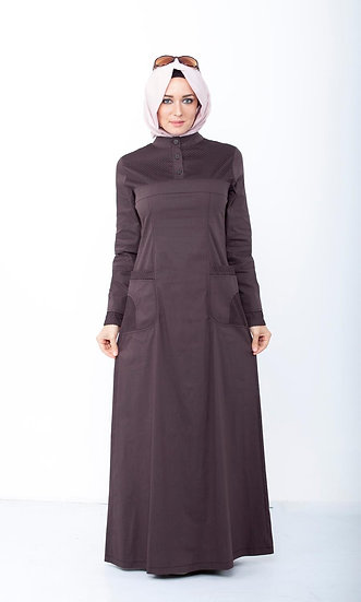 Sports Maxi Dress With Mesh Pockets (Plus sizes available)