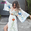 Thumbnail: Embroidered Maxi Dress V-Neck Batwing Sleeve