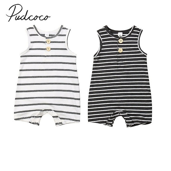 Newborn Infant  Striped Romper Sizes 0-24 months