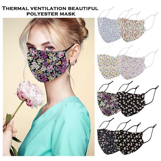 Flower Print Cotton Masks