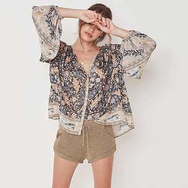 Floral Print Loose Shirt