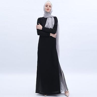 Full Sleeve Loose Pleated Maxi Dress