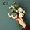 Thumbnail: Artificial Flower Dandelion Eucalyptus Hybrid Bouquet