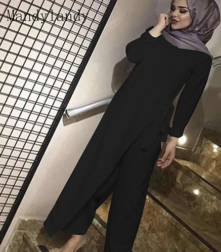Modest Wrap Jumpsuit Long Sleeve