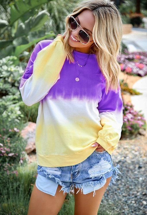 Tie dye Fleece Sweatshirt