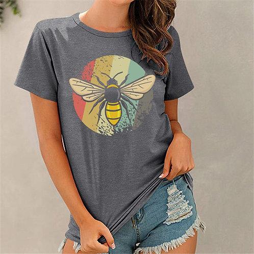 Rainbow Bee Print Tee