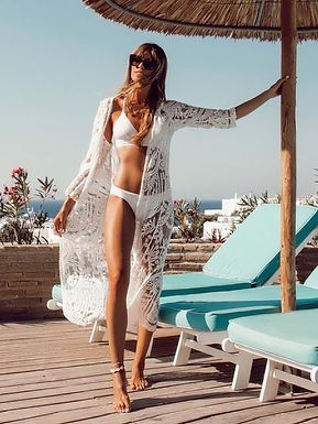 Bohemian White Lace Kimono