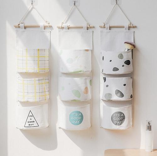 3 Pockets Wall Hanging Storage Bag
