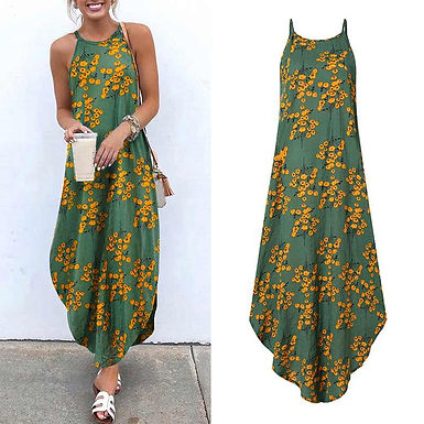 Bohemian Floral Printed SunDress (Plus sizes available)