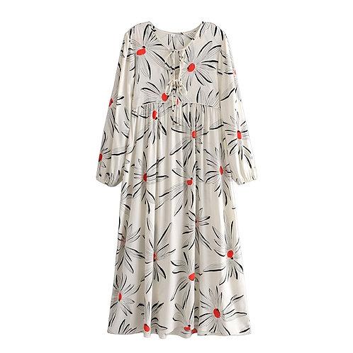 Daisy Long Sleeve maxi dress