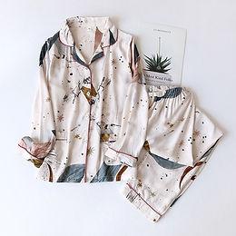 100% Cotton Long-Sleeved & Pants Pyjamas Set