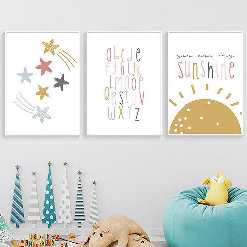 ABC Sunshine Wall Art