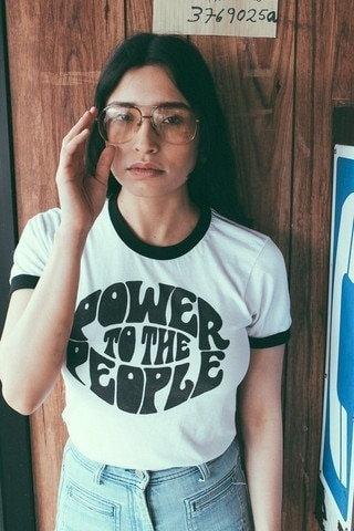 Power to the People Slogan T-Shirt