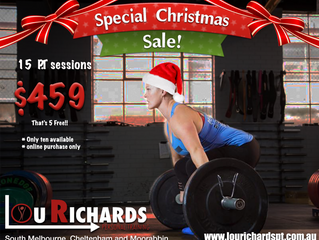 15 sessions for the price of 10!!