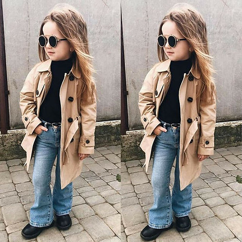 Long Trench Coat  Sizes 3-7 years