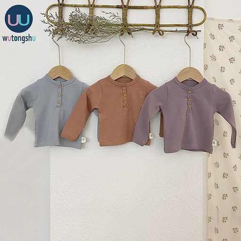 Long Sleeve Cotton Top  Sizes 3m-24m