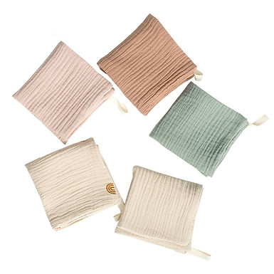 5 Pcs Baby Facecloth Cotton Burp Cloth