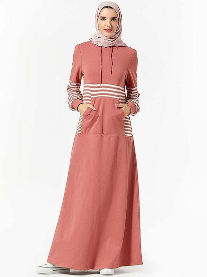 Hooded Long Dress Sportswear