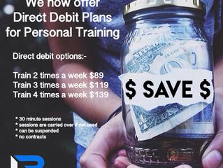 Direct Debit Plans now available