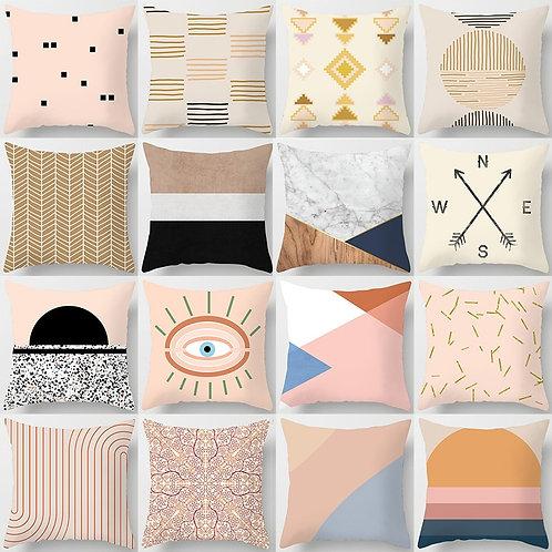 Natural Geometric Cushion Covers