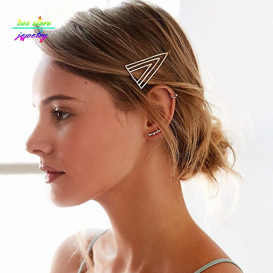 Gold Triangle Bobby Pin