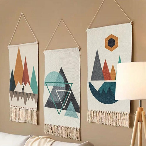 Cotton Tassel Tapestry Hanging