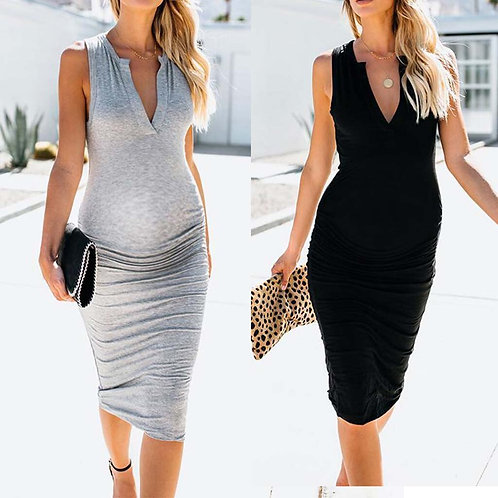 Maternity V-neck Tank Dress