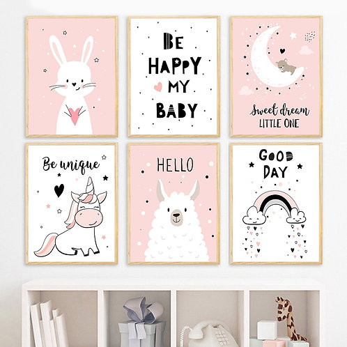Baby Girl Nursery Wall Art